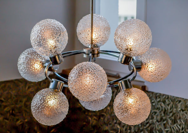 Superb 1970's Mid-Century Modernist Atomic Sputnik Chandelier - Art Deco Antiques  - 6
