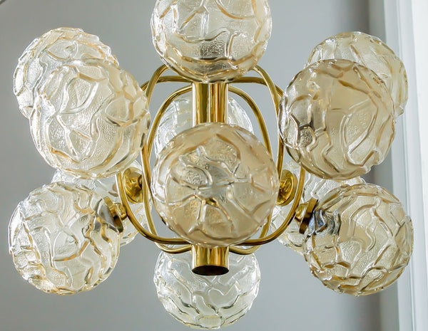 Exquisite Mid-Century Modernist Chandelier - Art Deco Antiques - 6