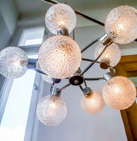 Superb 1970's Mid-Century Modernist Atomic Sputnik Chandelier - Art Deco Antiques  - 3