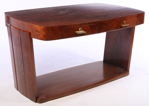 French Art Deco Walnut Writing Desk - Art Deco Antiques  - 1