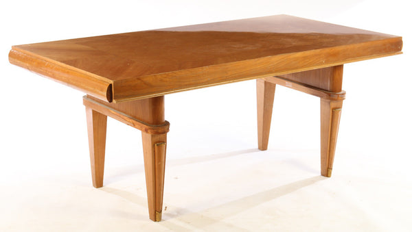 Luxe Dining Table In The Manner Of Jules Leleu - Art Deco Antiques  - 1