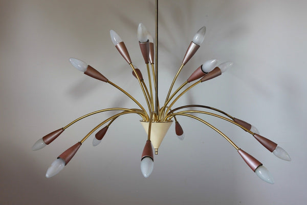 Unique 1950's Mid-Century Modernist Sputnik - Art Deco Antiques  - 2