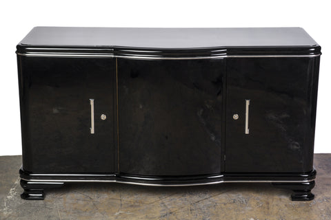 Elegant Streamlined Art Deco Sideboard - Art Deco Antiques  - 1
