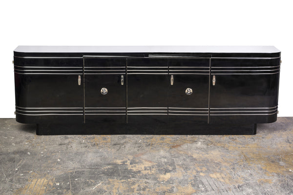 Streamlined Art Deco Chrome Sideboard - Art Deco Antiques  - 1