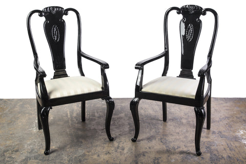 Sophisticated Pair Of Mid-Century Modernist Dining Chairs - Art Deco Antiques  - 1
