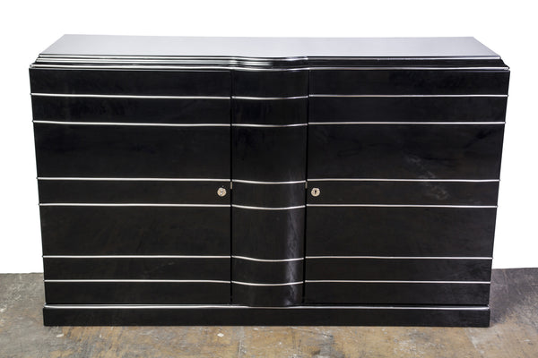 Beautiful Art Deco Chromelined Sideboard - Art Deco Antiques  - 1