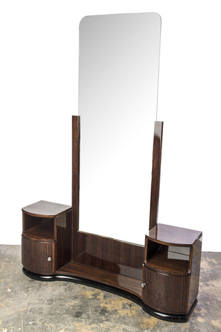 Magnificent Art Deco Vanity / Commode With Mirror - Art Deco Antiques  - 1