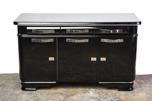 Unique Belgian Art Deco Sideboard from Mons - Art Deco Antiques  - 1