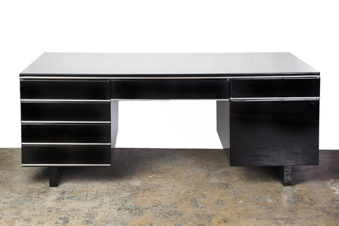 Impressive English Bauhaus Partner Desk - Art Deco Antiques  - 1