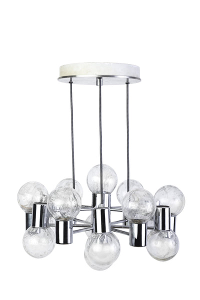Stunning Mid-Century Modernist Chandelier By Doria - Art Deco Antiques  - 1