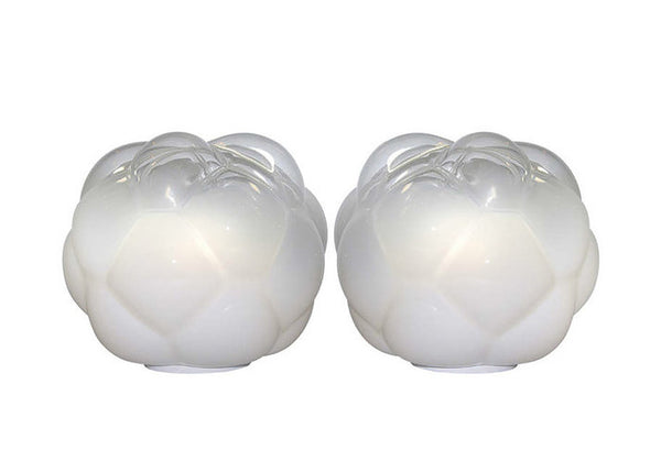 Exceptional Pair of Cloud Lamps in Blown Murano Glass by Vistosi