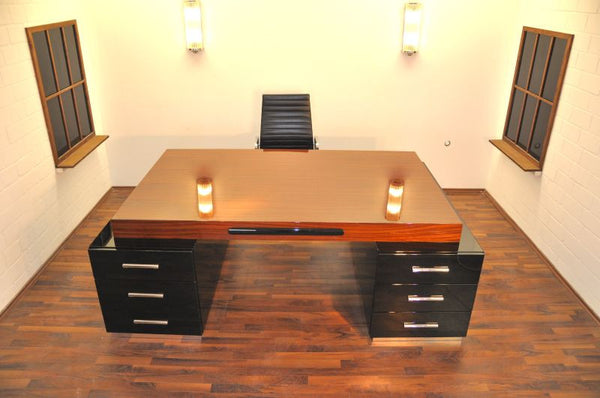 Exceptional Art Deco Partnerdesk By Bauhaus - Art Deco Antiques  - 2