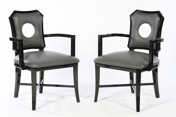 Stylish Pair Of Arm Chairs in the manner of James Mont - Art Deco Antiques  - 1