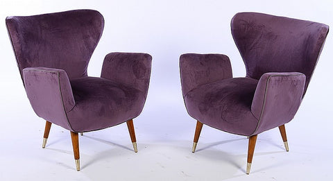 Magnificent Pair Of Italian Mid-Century Modernist Butterfly Style Chairs - Art Deco Antiques  - 1