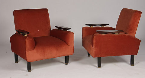 Pair Of Mid-Century Modernist Club Chairs - Art Deco Antiques  - 1