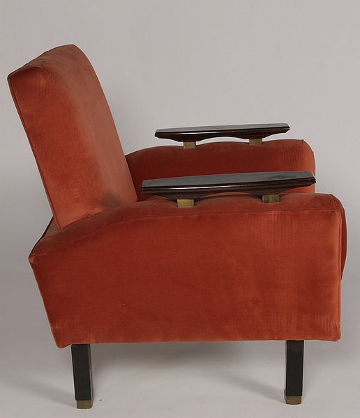 Pair Of Mid-Century Modernist Club Chairs - Art Deco Antiques  - 3