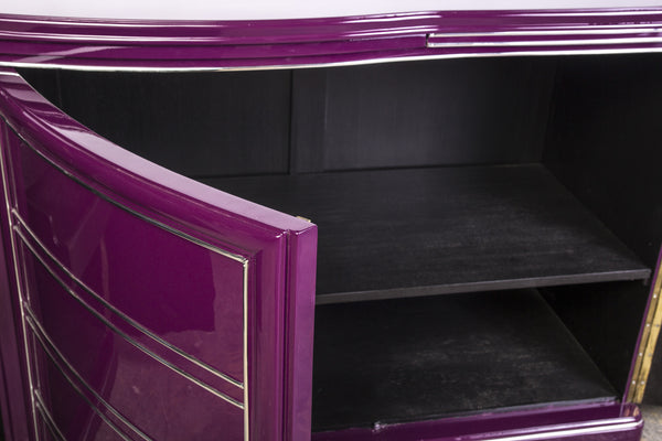 Exceptional Art Deco Sideboard In Liliac - Art Deco Antiques  - 4