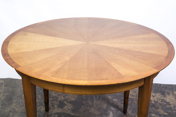 French Art Deco Sycamore Sunburst Dining Table by Dominique. - Art Deco Antiques  - 3