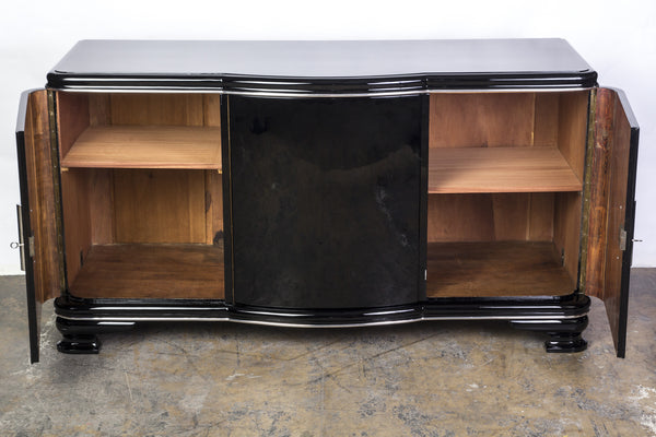 Elegant Streamlined Art Deco Sideboard - Art Deco Antiques  - 3