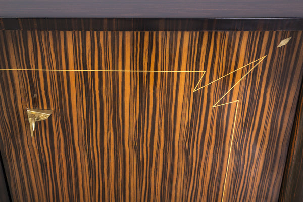 BeautifulFrench Art Deco Buffet / Sideboard In Macassar Ebony And Sycamore Interior - Art Deco Antiques  - 4