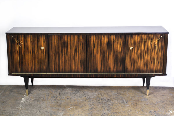 BeautifulFrench Art Deco Buffet / Sideboard In Macassar Ebony And Sycamore Interior - Art Deco Antiques  - 1
