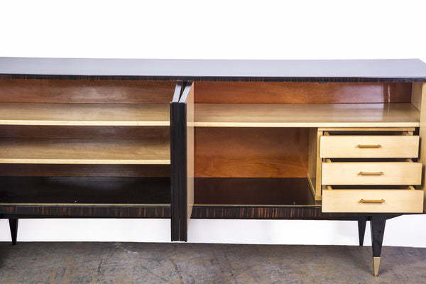 BeautifulFrench Art Deco Buffet / Sideboard In Macassar Ebony And Sycamore Interior - Art Deco Antiques  - 6