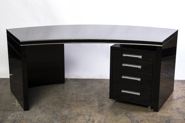 Wonderful Art Deco Desk With Filing Cabinet - Art Deco Antiques  - 4