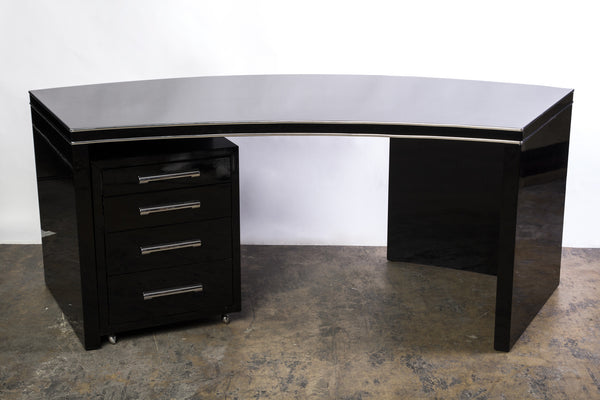Wonderful Art Deco Desk With Filing Cabinet - Art Deco Antiques  - 5