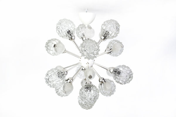 Exquisite German Floral Starburst Sputnik - Art Deco Antiques  - 1