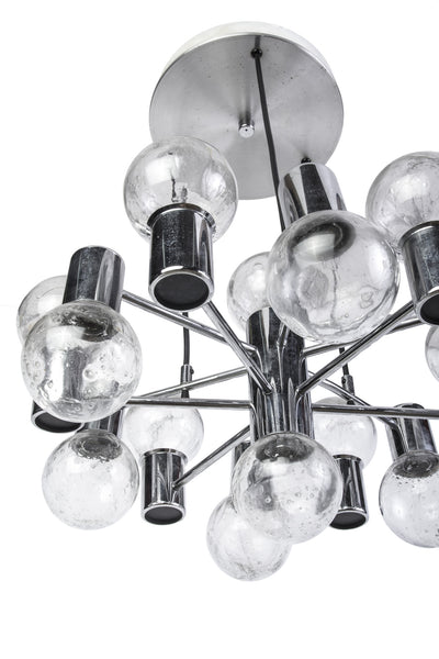 Stunning Mid-Century Modernist Chandelier By Doria - Art Deco Antiques  - 5