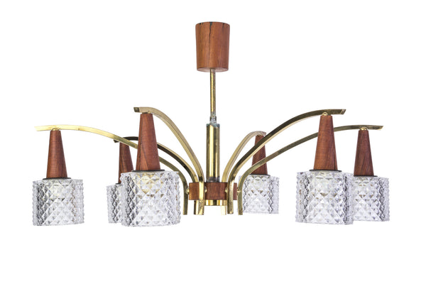 Chic 1960's Danish Chandelier - Art Deco Antiques  - 1