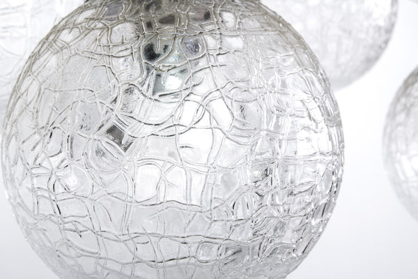 Stunning Mid-Century Modernist Glass Ball Pendant / Chandelier By Doria - Art Deco Antiques  - 5