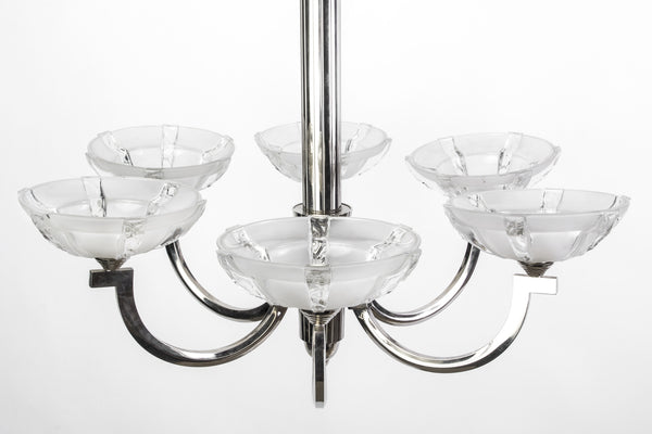 Chic French Art Deco Chandelier By Ernest Sabino - Art Deco Antiques  - 2