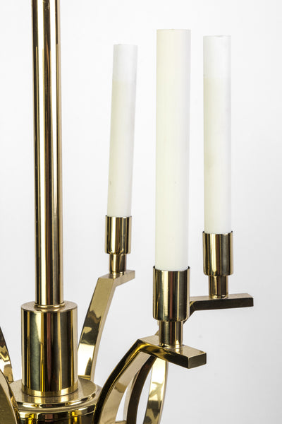 Exquisite 1970's Mid-Century Modernist Candelabra Chandelier By Frederick Cooper - Art Deco Antiques  - 6