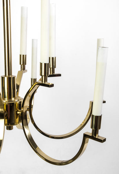 Exquisite 1970's Mid-Century Modernist Candelabra Chandelier By Frederick Cooper - Art Deco Antiques  - 4