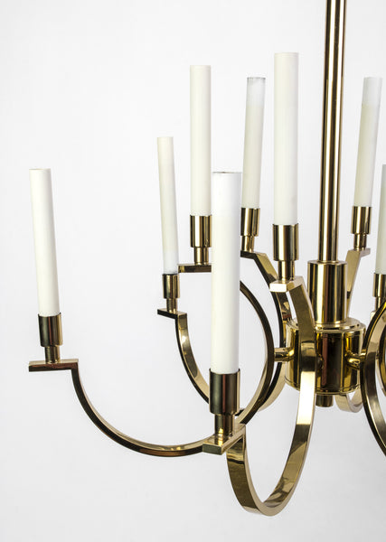 Exquisite 1970's Mid-Century Modernist Candelabra Chandelier By Frederick Cooper - Art Deco Antiques  - 3