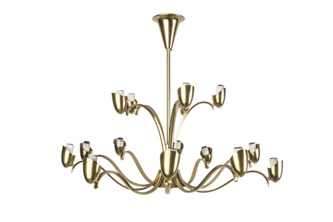 Elegant Italian Chandelier - Art Deco Antiques  - 1