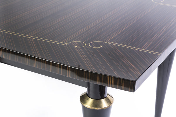 Elegant Dining Table Macassar Ebony - Art Deco Antiques  - 5