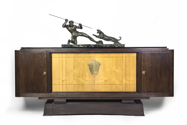 Magnificent Museum Quality French Art Deco Buffet / Sideboard by Alfred Porteneuve - Art Deco Antiques  - 4