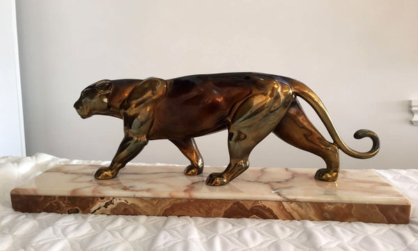 Art Deco Panther Sculpture - Art Deco Antiques  - 1