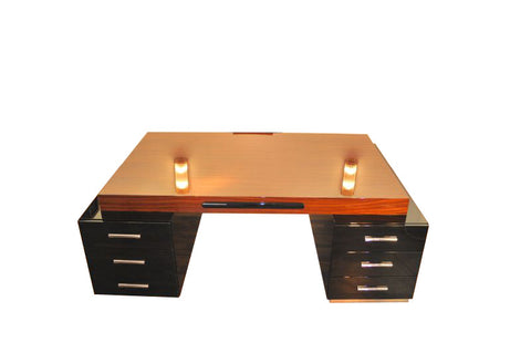Exceptional Art Deco Partnerdesk By Bauhaus - Art Deco Antiques  - 1