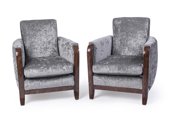 Exceptional Pair Of Armchairs By Jules Leleu - Art Deco Antiques  - 1
