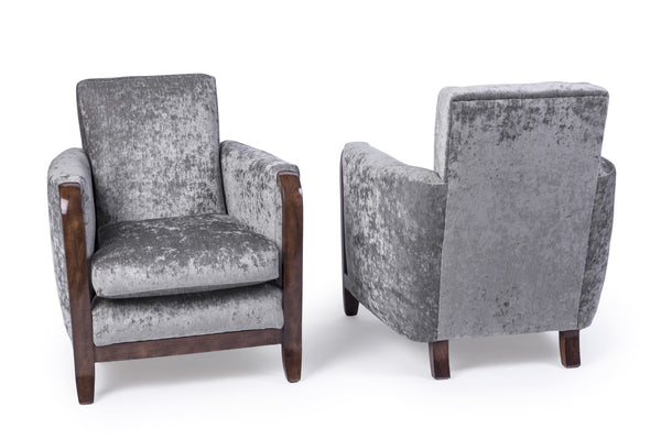 Exceptional Pair Of Armchairs By Jules Leleu - Art Deco Antiques  - 2