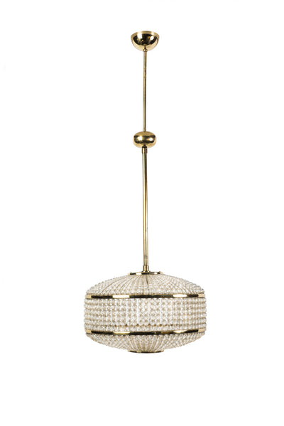 Exceptional Crystal Chandelier Pendant By Lobmeyr - Art Deco Antiques  - 2