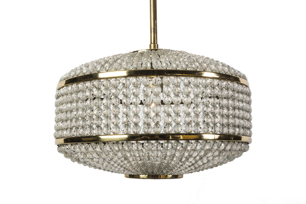 Exceptional Crystal Chandelier Pendant By Lobmeyr - Art Deco Antiques  - 3