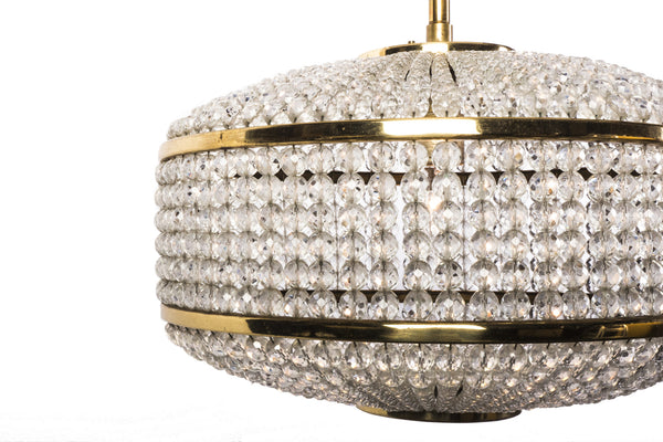 Exceptional Crystal Chandelier Pendant By Lobmeyr - Art Deco Antiques  - 6