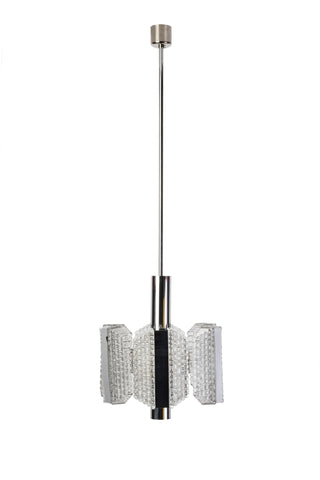 Sensational Mid-Century Drum Chandelier By Kaiser Leuchten - Art Deco Antiques  - 1