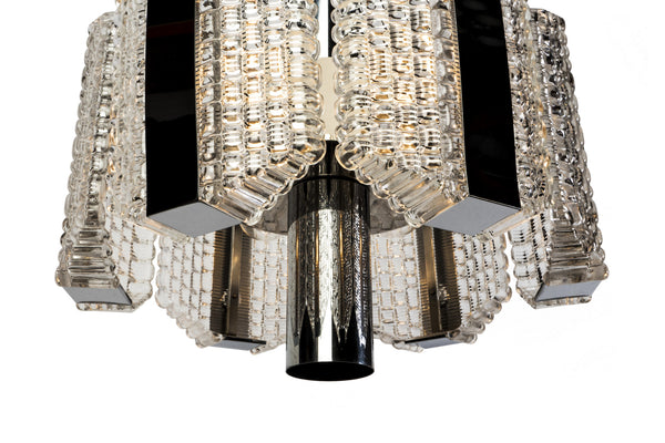 Sensational Mid-Century Drum Chandelier By Kaiser Leuchten - Art Deco Antiques  - 4