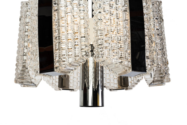 Sensational Mid-Century Drum Chandelier By Kaiser Leuchten - Art Deco Antiques  - 5