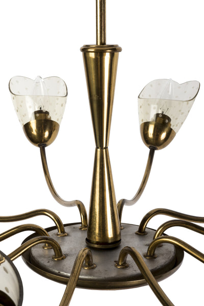 Sensational Italian Mid-Century Modernist Chandelier With Floral Motif - Art Deco Antiques  - 4
